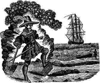Kidd buries a Bible, Pirate Captain Kidd, Captain William Kidd
