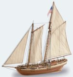 Schooner wooden ship model